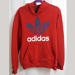 Adidas Originals Hoodie Hooded Pullover Red/Blue s